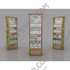 Ahşap Tasarım Organik Şampuan Ürün Standı