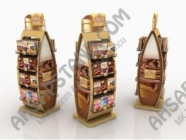 Carte D'or Raflı Özel Tasarım Pasta Malzemeleri Standı