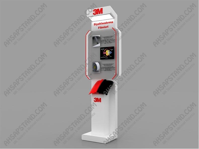 3M Otomotiv,Dual Lock ,Boya Koruma ,Thinsulate Filmleri Standı