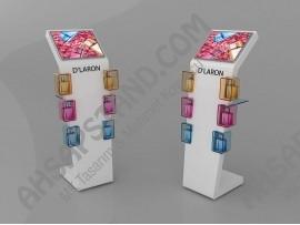 D'Laron Renkli Cam Detay Parfüm Standı