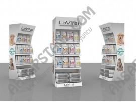 LaVital Evcil Hayvan Ürünleri 4 Raflı Stand