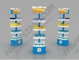 Bayer 4 Raflı Kış Ürünleri İlaç Standı