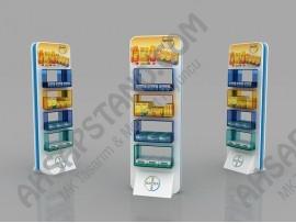 Bayer Renkli 4 Raf İlaç Standı