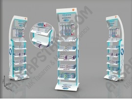 Gsk- Sensodyne, Corega, Parodontax Ürünleri Tekerlekli Tasarım Stand