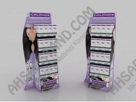Celenes Saç Şampuanı ve Saç Kremi Raflı Stand